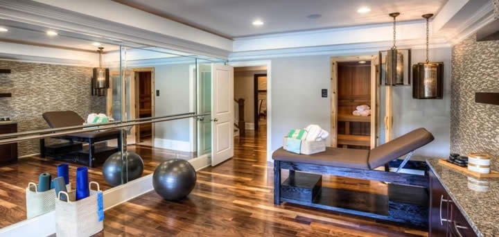 Beautiful Atlanta Basement Remodel Home Gym