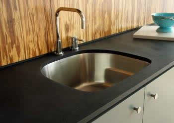 Recycled paper can be used for Atlanta kitchen countertops